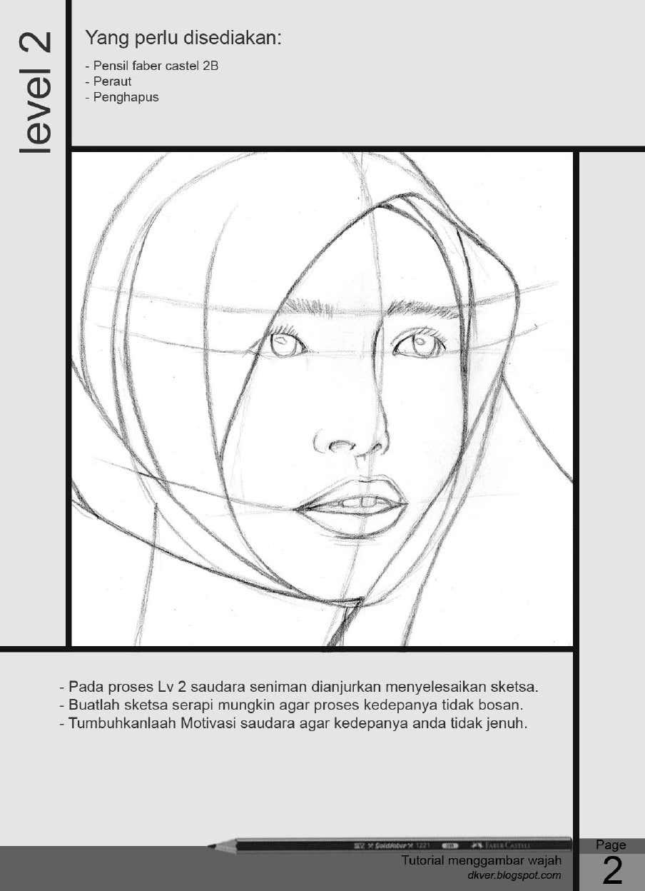 Cara menggambar orang berhijab dengan pensil